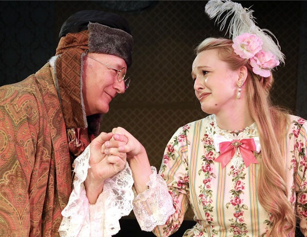 Jim Covault and Lucy Given in 'Heir Apparent' Photo: Buddy Myers