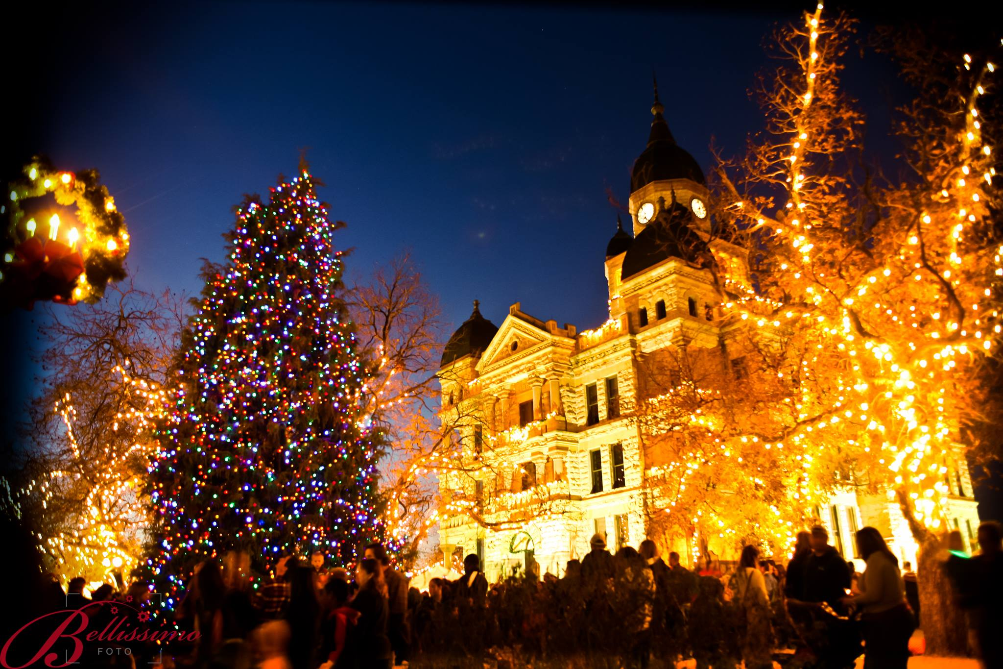 Enjoy the small town feel at Denton's annual holiday lighting event this Friday. Photo: Bellissimo Foto