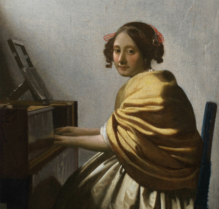 Johannes Vermeer_Young Woman Seated at a Virginal DETAIL