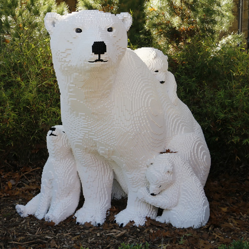 Stop by the Dallas Zoo and see the bears--LEGO bears, that is. Photo: Dallas Zoo