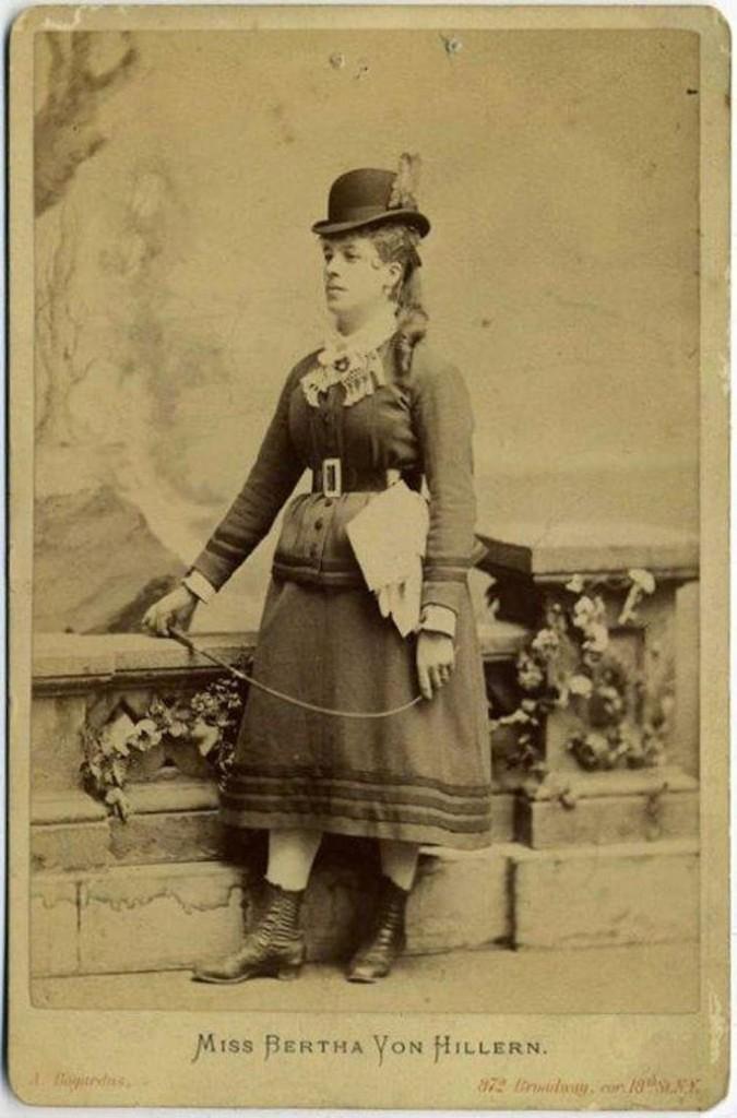 Bertha von Hillern: America's first pedestrienne.