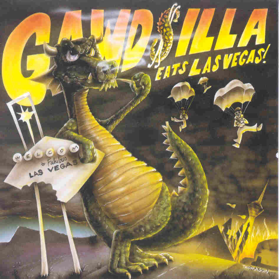 "The sheet music for Eric Whitacre's ""Godzilla Eats Las Vegas."""