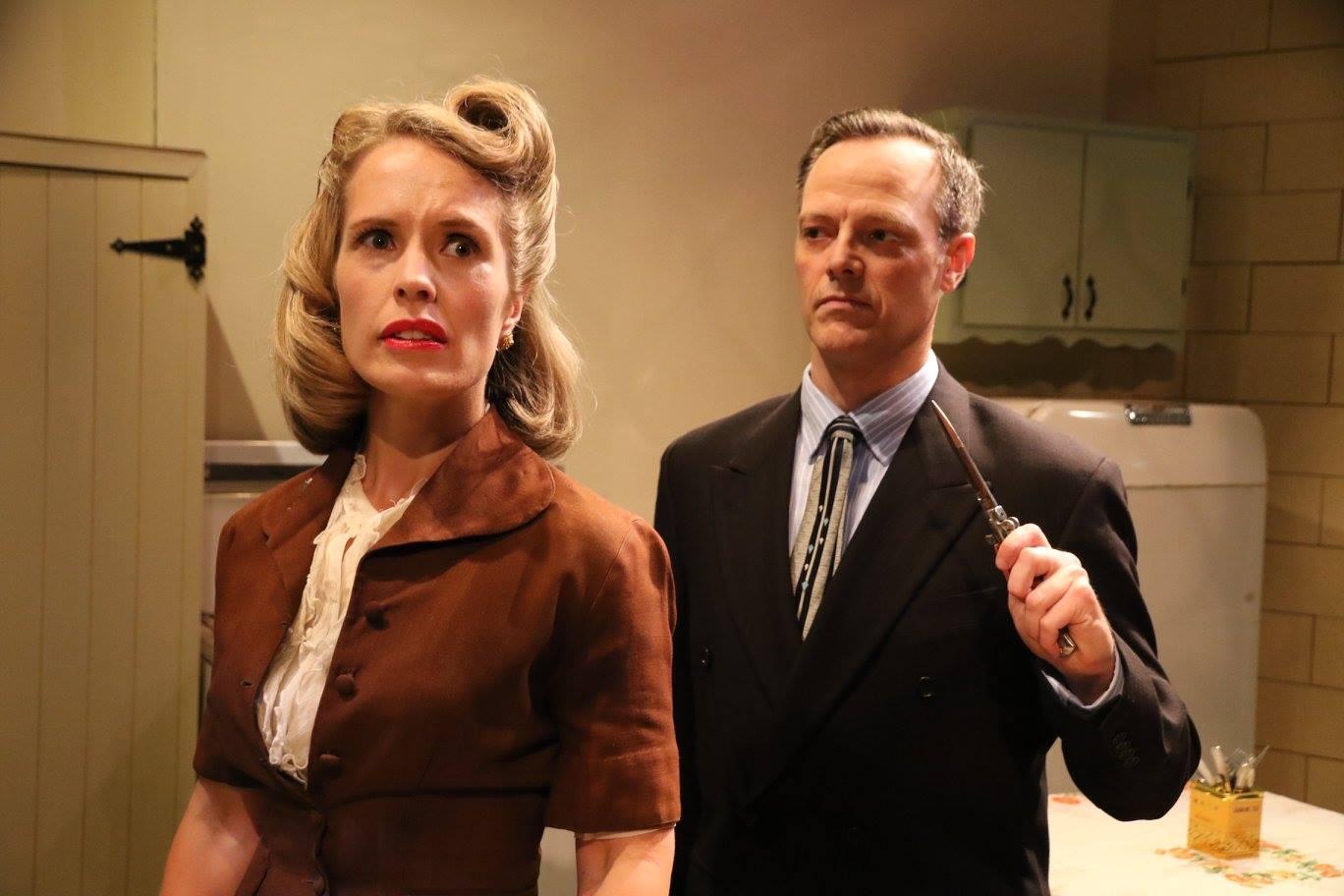 Dana Schultes and Mark Shum in Wait Until Dark.