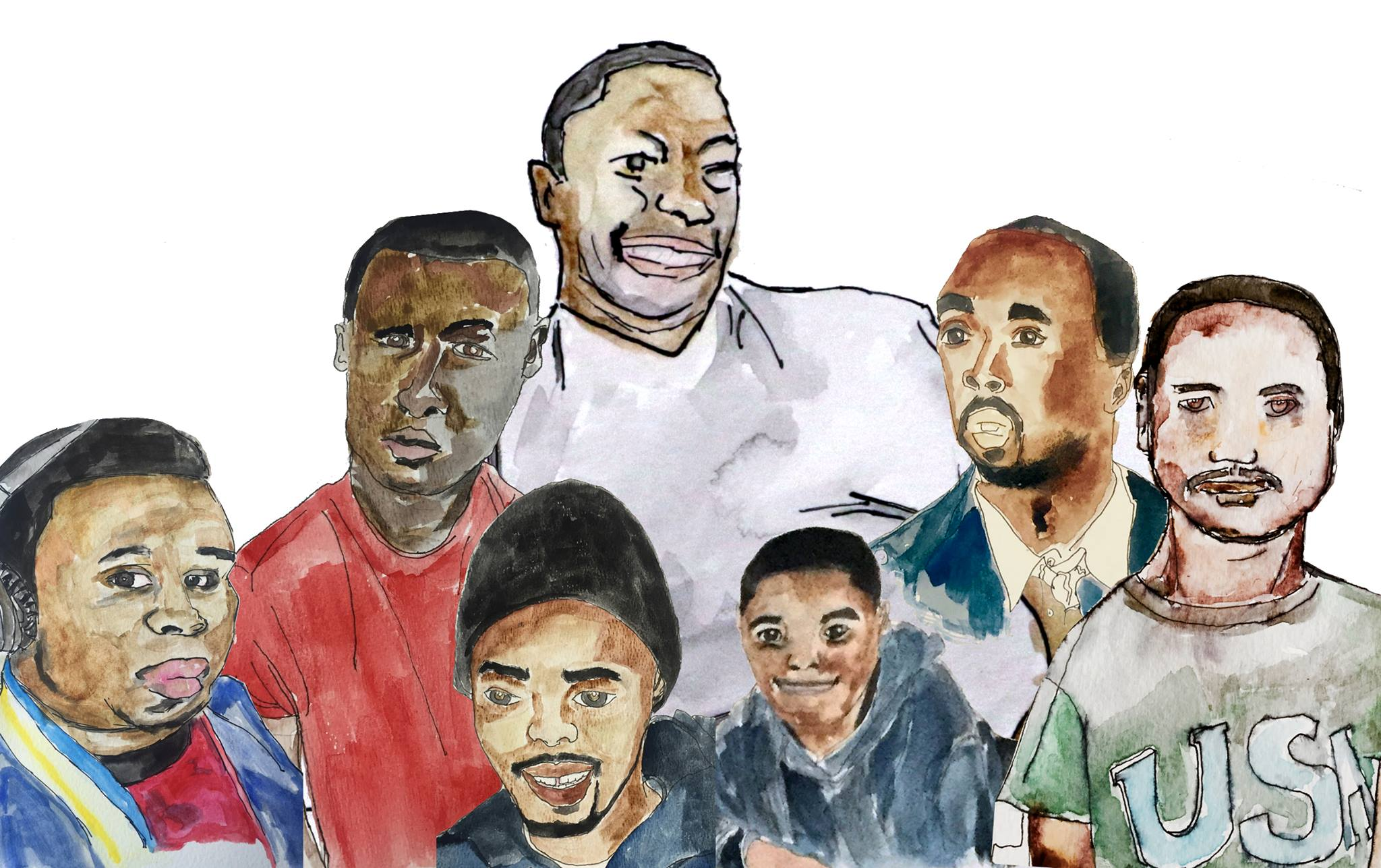 Christopher Blay's Composite of Brown, Gray, Grant, Garner, Rice, King, and Diallo.