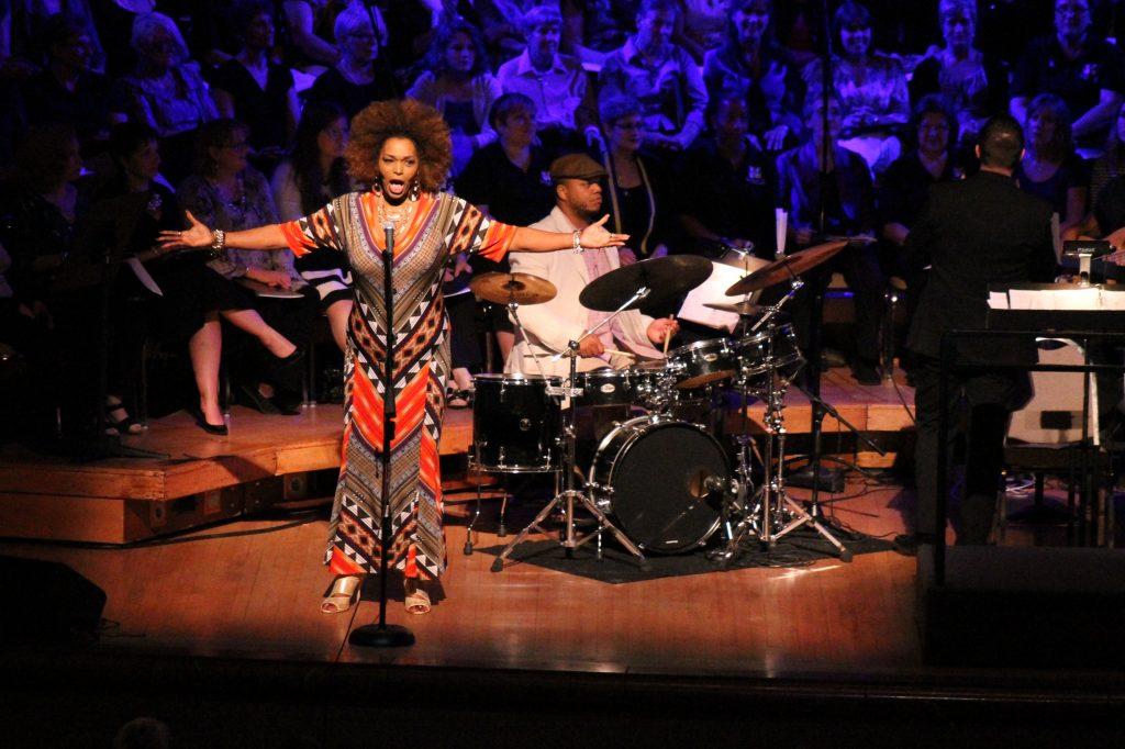 "Liz Mikel sings ""Glory."" Photo: Francesca Paris"