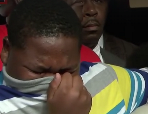 15 year-old Cameron Sterling - son of Alton Sterling - grieves for his father's loss. Photo: wrkf.org/