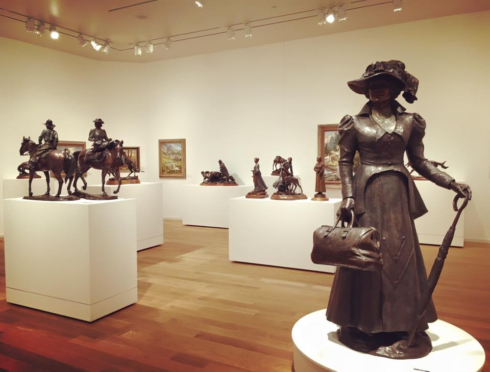 A view of the Veryl Goodnight exhibition at the National Cowgirl Museum