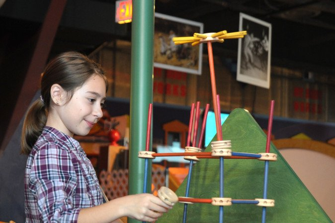 Invent and create at the Tinkertoy exhibit. Photo: American Airlines C.R. Smith Museum