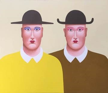 """Two Men with Hats"" - Nicolas Party Photo: Dallas Museum of Art"