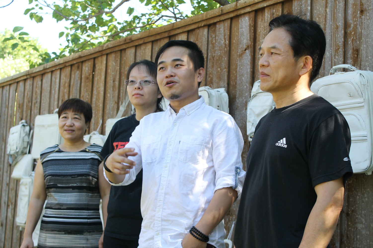 zhang and family