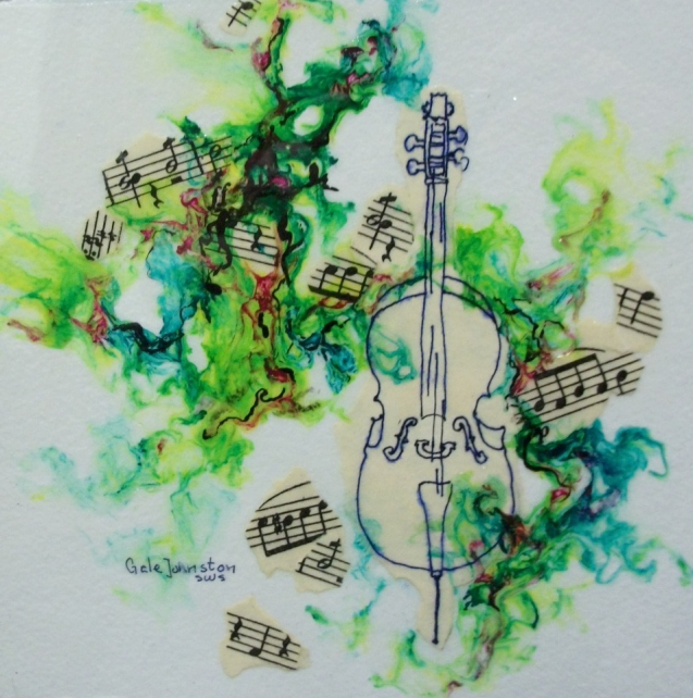 "Check out Gale Johnston's ""Musical Gel Painting"" at Art on the Boulevard."