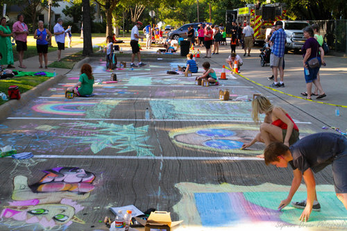 Put your chalk skills to the test at Plano ArtFest. Photo: Planoartfest.com