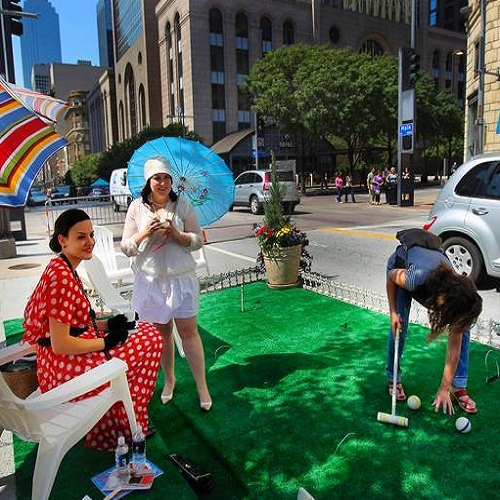 Check out these mini parks in Downtown Dallas Friday.