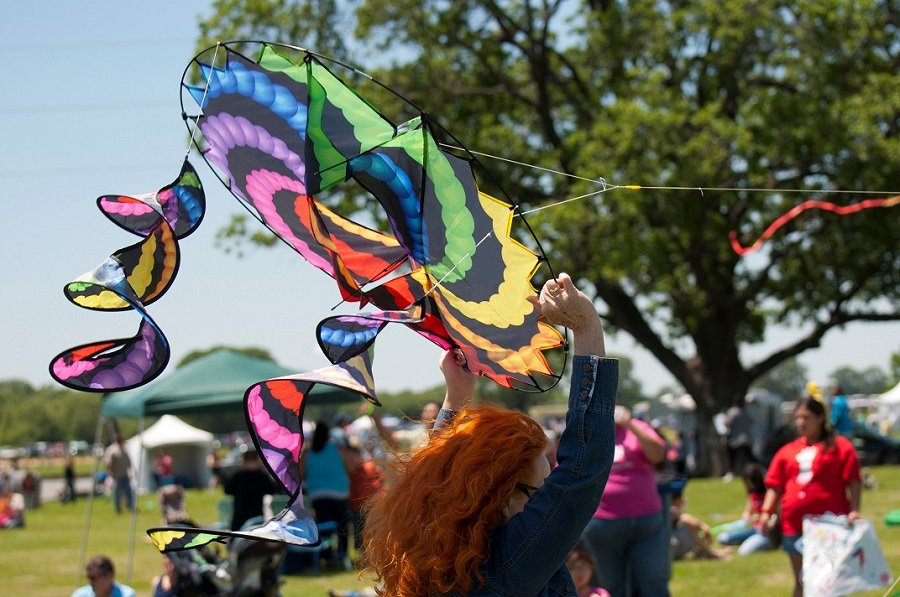 Go fly a kite this weekend. photo: trinityrivercorridor.com