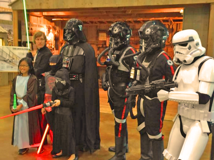Trick or treat with the 'Star Wars' gang. Photo: Frontiers of Flight Museum