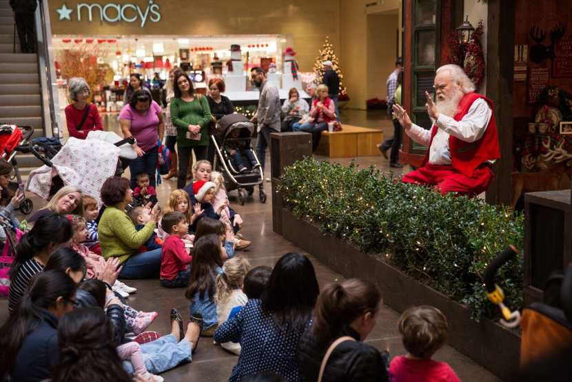 Gather round to hear a tale from the big guy himself. Photo: NorthPark Center