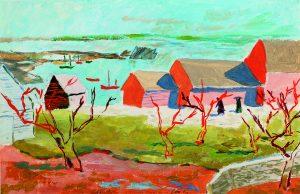 Kahn, Louis Coastal Village N° 3, Canada, 1937 Tempera on paper 18.1 x 27.9 cm Collection Sue Ann Kahn OUS-1493 JH-203
