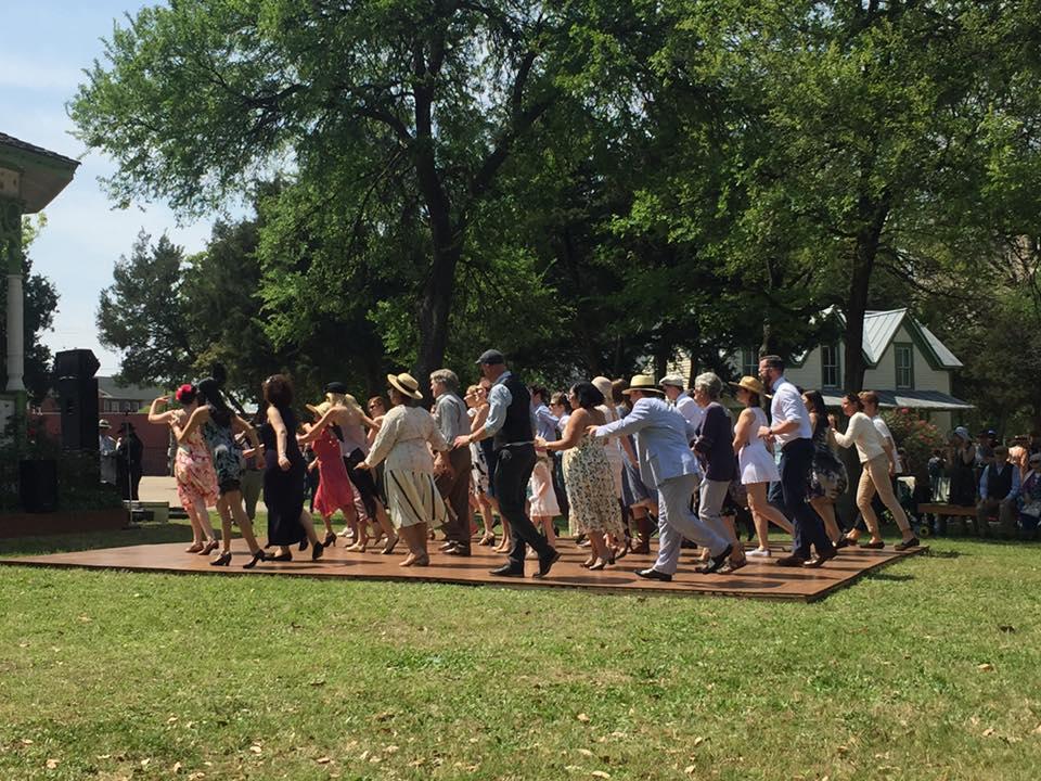 Dancing at the Sunday Social. (Photo: Stephanie Smith Robinson)
