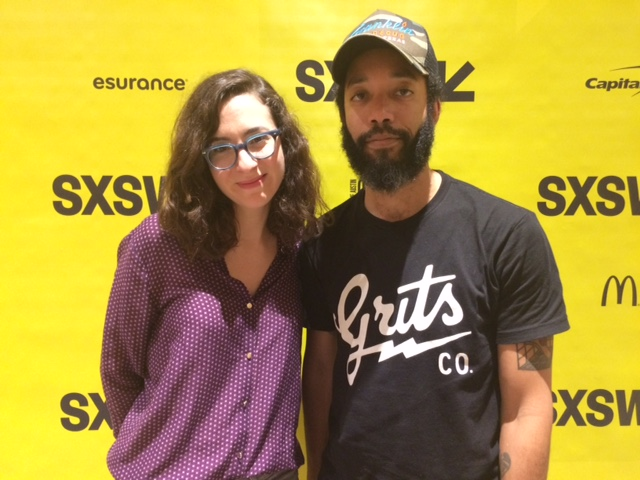 Laura Terruso and Wyatt Cenac. Photo: Stephen Becker/KERA