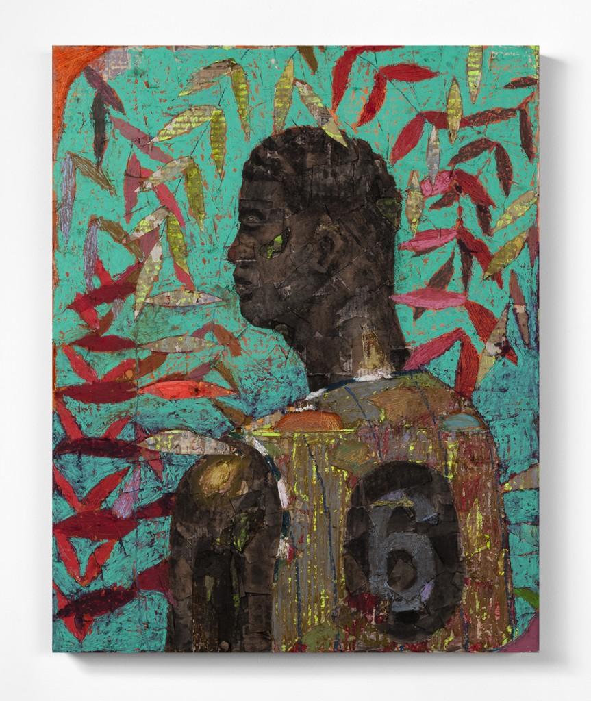 No. 73 by Derek Fordjour, bought through Dallas Art Fair
