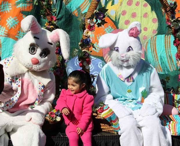 Get you picture taken with the Easter Bunny at the Citywide Egg Hunt in Irving. Photo: City of Irving