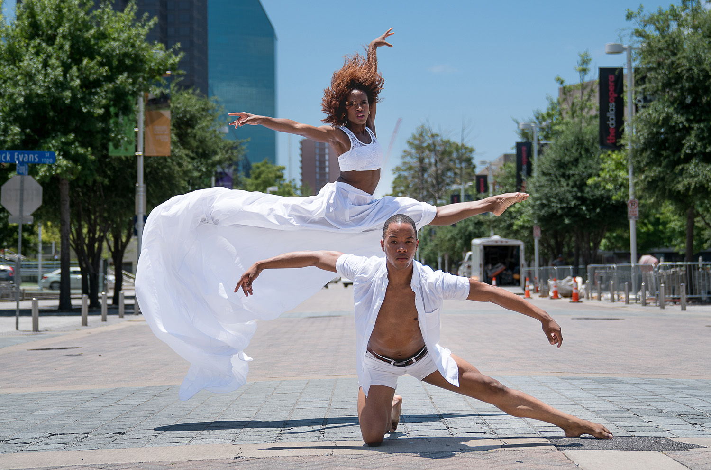 The Dallas Dance Project. Dancers Hana Delong and Claude Alexander III