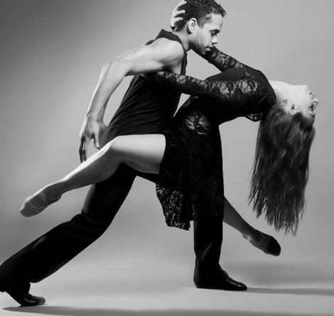 "Emily Drake and Albert Drake III in ""Zero Hour."" Choreography by Bruce Wood."