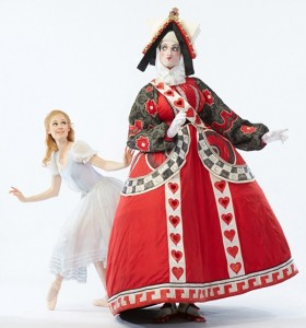Texas Ballet Theater's Alice dances around the Queen of Hearts