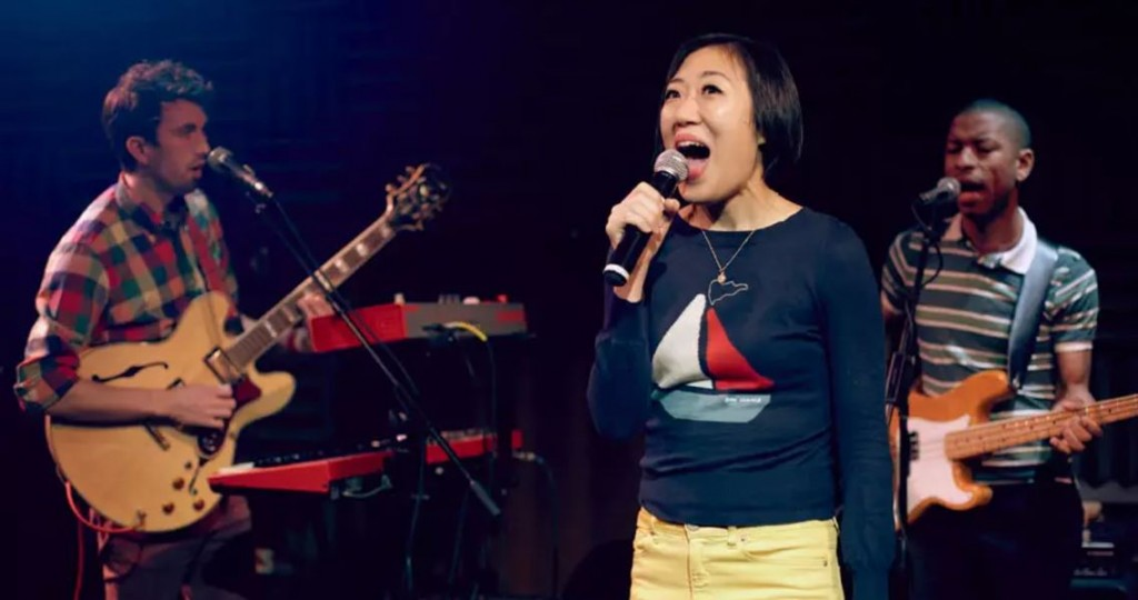 "Young Jean Lee staring in the 2011 version of ""We're Gonna Die"" in New York City. Photo: Vimeo"