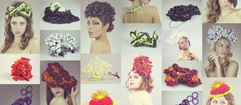 """This photo contains images of Antoinette's work from her """"Conscientious Couture"""" line. Photo: Chesley Antoinette"""