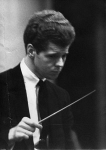 Van Cliburn conducting. Photo: The Cliburn
