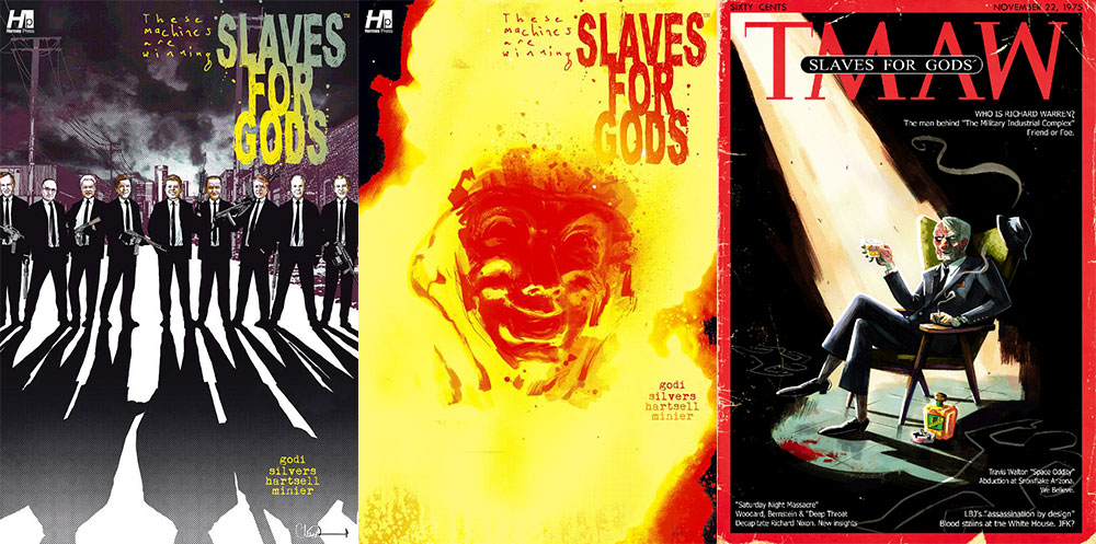 "The ""slaves for gods"" covers that were released on Saturday May 27th."