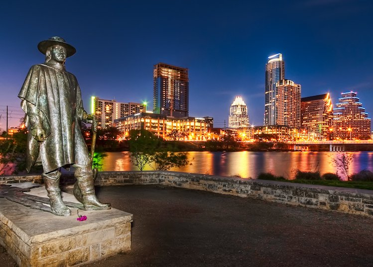Stevie Ray Vaughan statue in Austin. Photo: John Rogers/Flickr