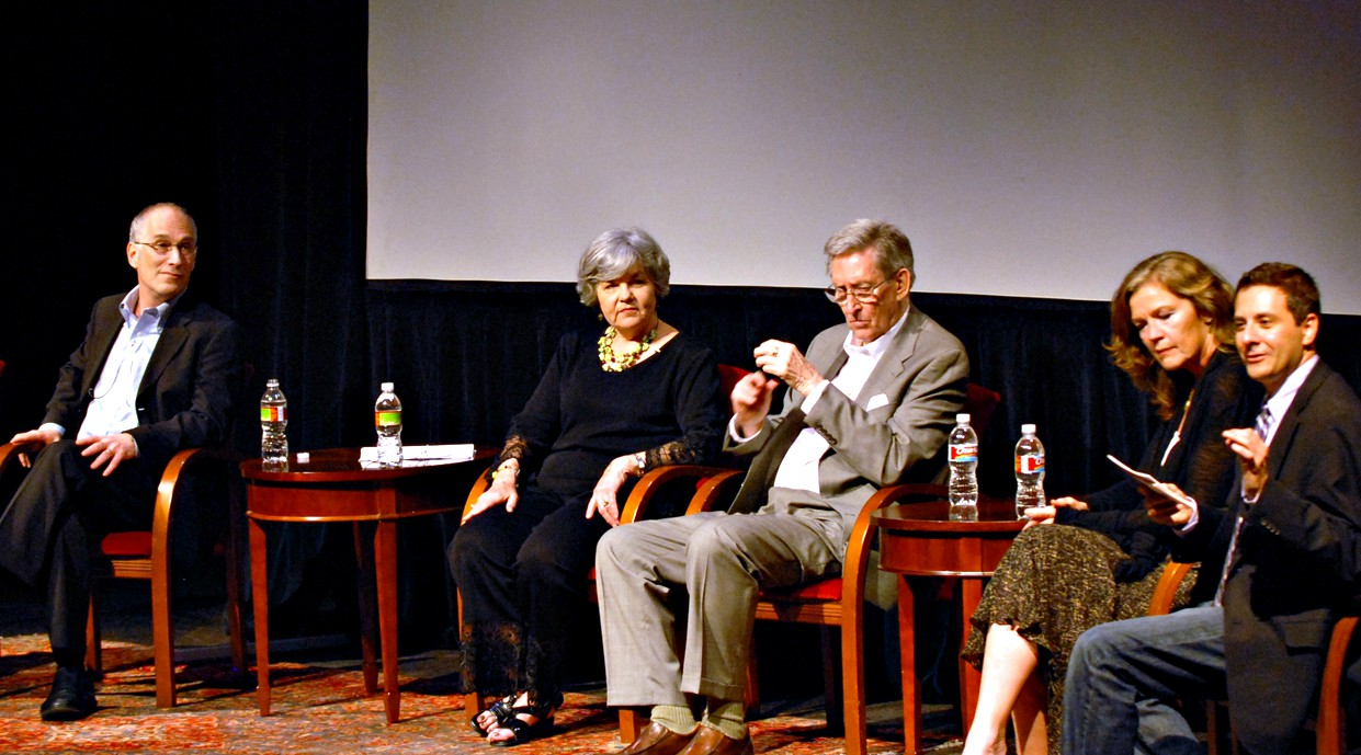The DTC's 50th Anniversary in 2011 included a panel at the Kalita Humphreys of the living artistic directors or their relatives, including Richard Hamburger, Robyn Flatt (daughter of founder Paul Baker), Adrian Hall, Linda Gehringer (widow of Ken Bryant)