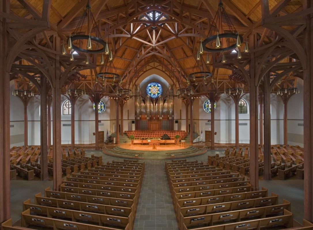 Interior, First United Methodist Church, Richardson.