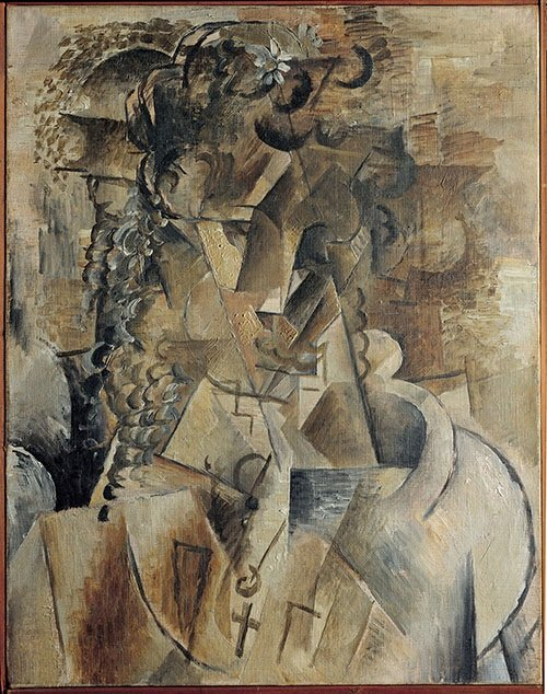"""Girl With a Cross"" Georges Braque"