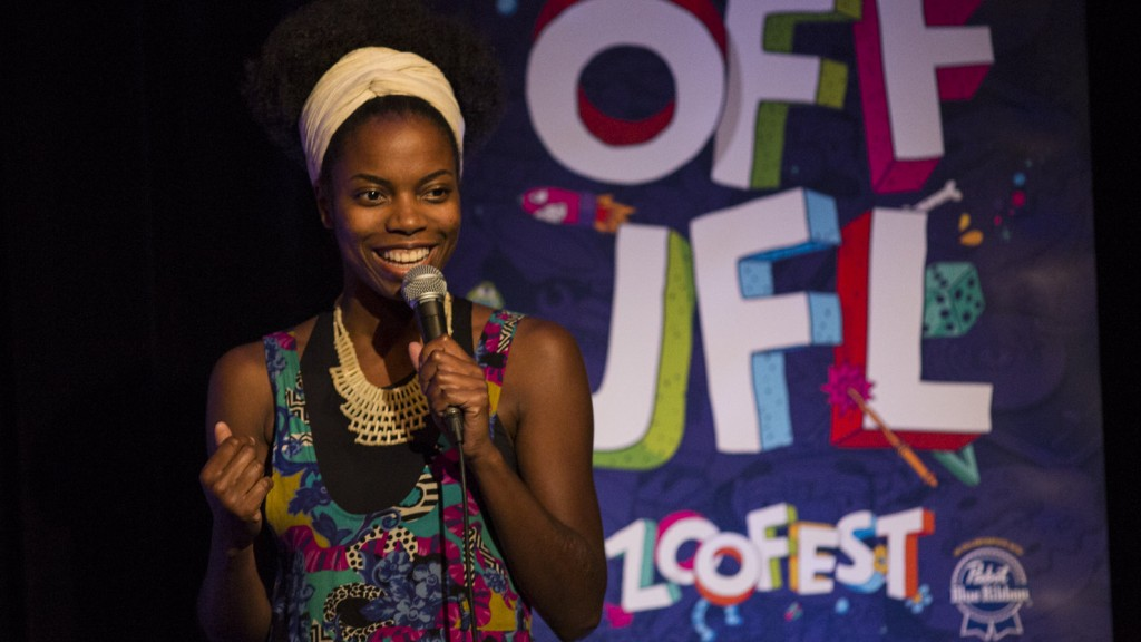 Sasheer Zamata performs at the Just For Laughs festival. Joseph Fuda/Just For Laughs