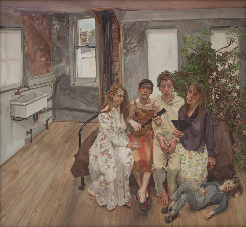 Lucian Freud Large Interior, W11 (after Watteau), 1981-83 Private Collection © The Lucian Freud Archive. Image copyright: Courtesy Lucian Freud Archive