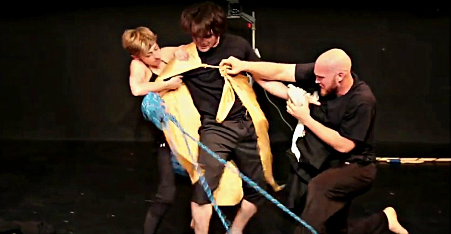 Katy Tye, Jeff Colangelo and Brandon Whitlock in Prismco's 'Medea.'