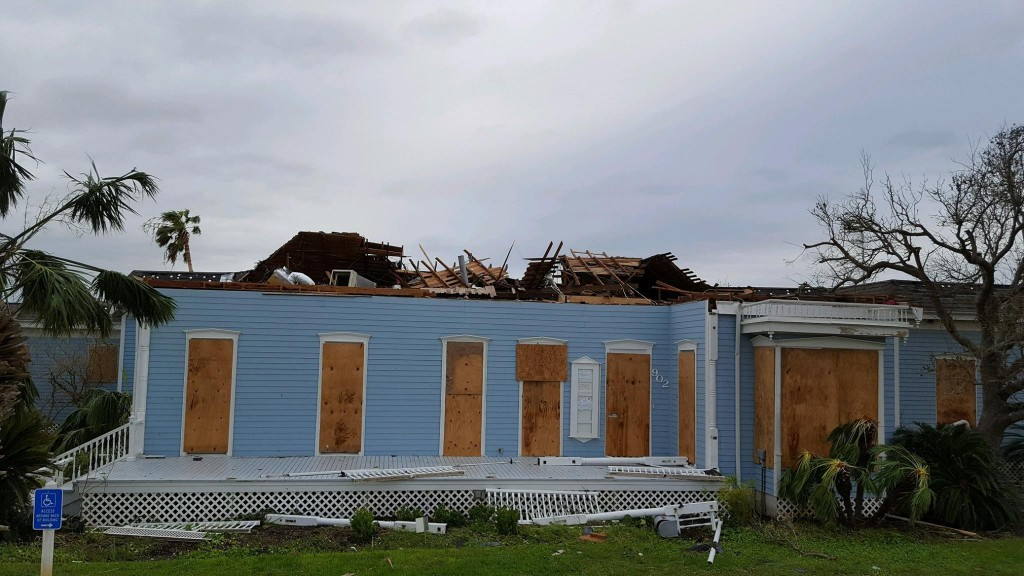 Rockport Center for the Arts sustained damage from Hurricane Harvey in Aug 2017