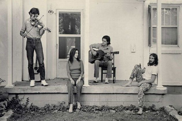 Townes Van Zandt, Susanna Clark, Guy Clark, Waylon Jennings. (left to right) Photo by Jeanene Van Zandt.