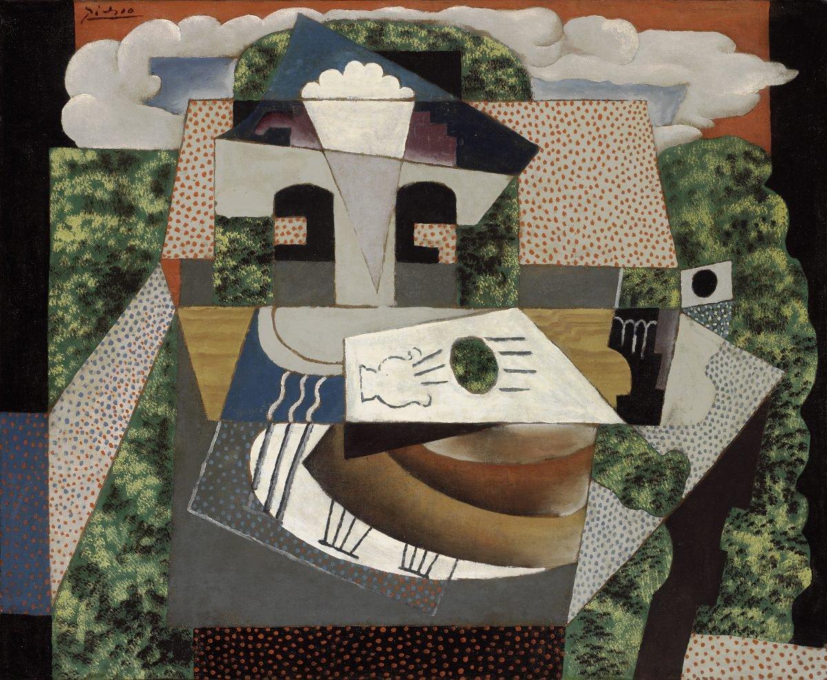 """Pablo Picasso, """"Still Life in a Landscape"""""""