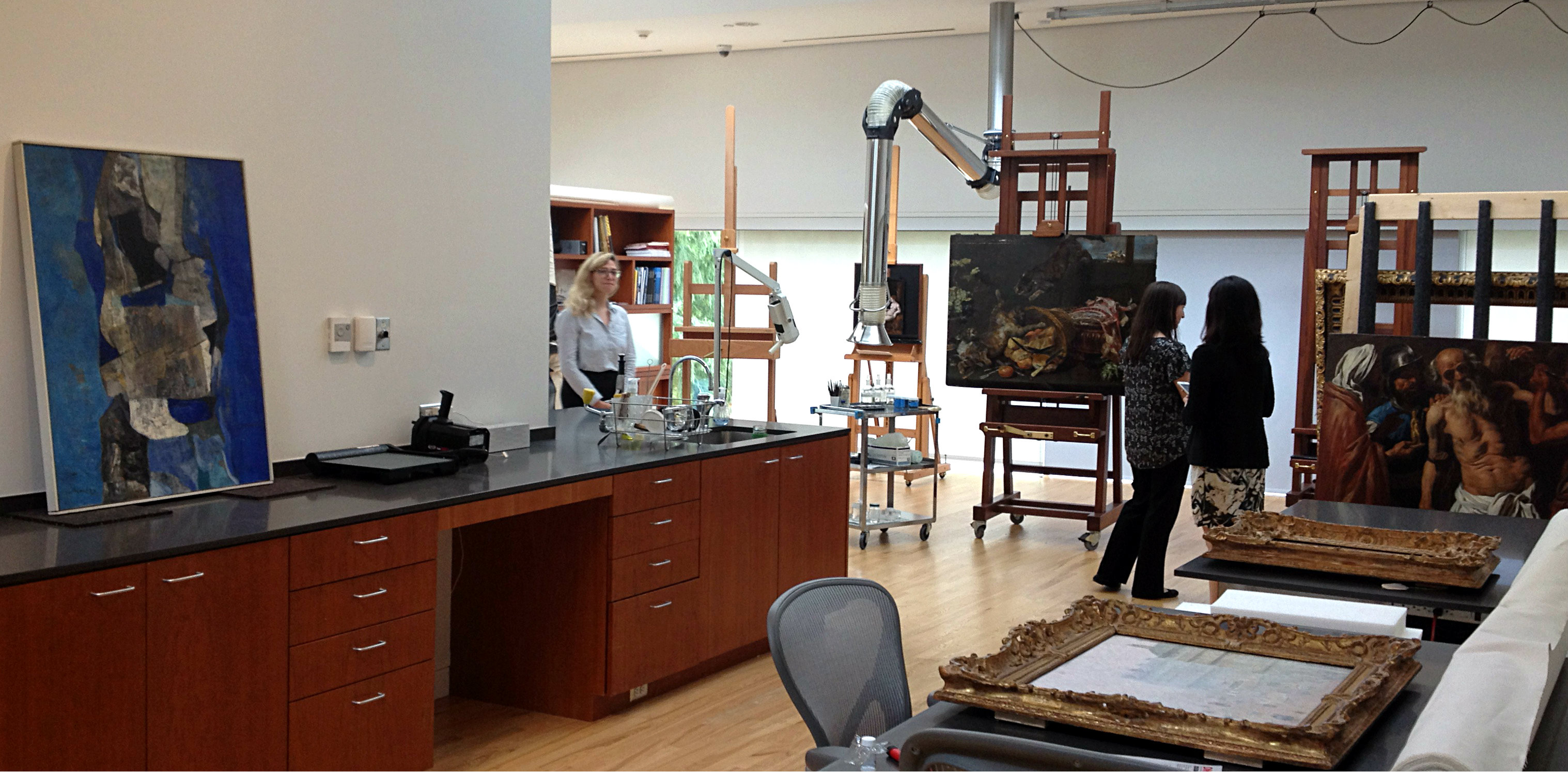 The DMA's conservation studio