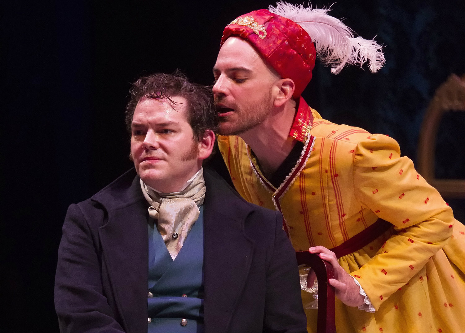John-Michael Marrs & Brandon Potter in PRIDE AND PREJUDICE at WaterTower Theatre photo by Jason Anderson (2)