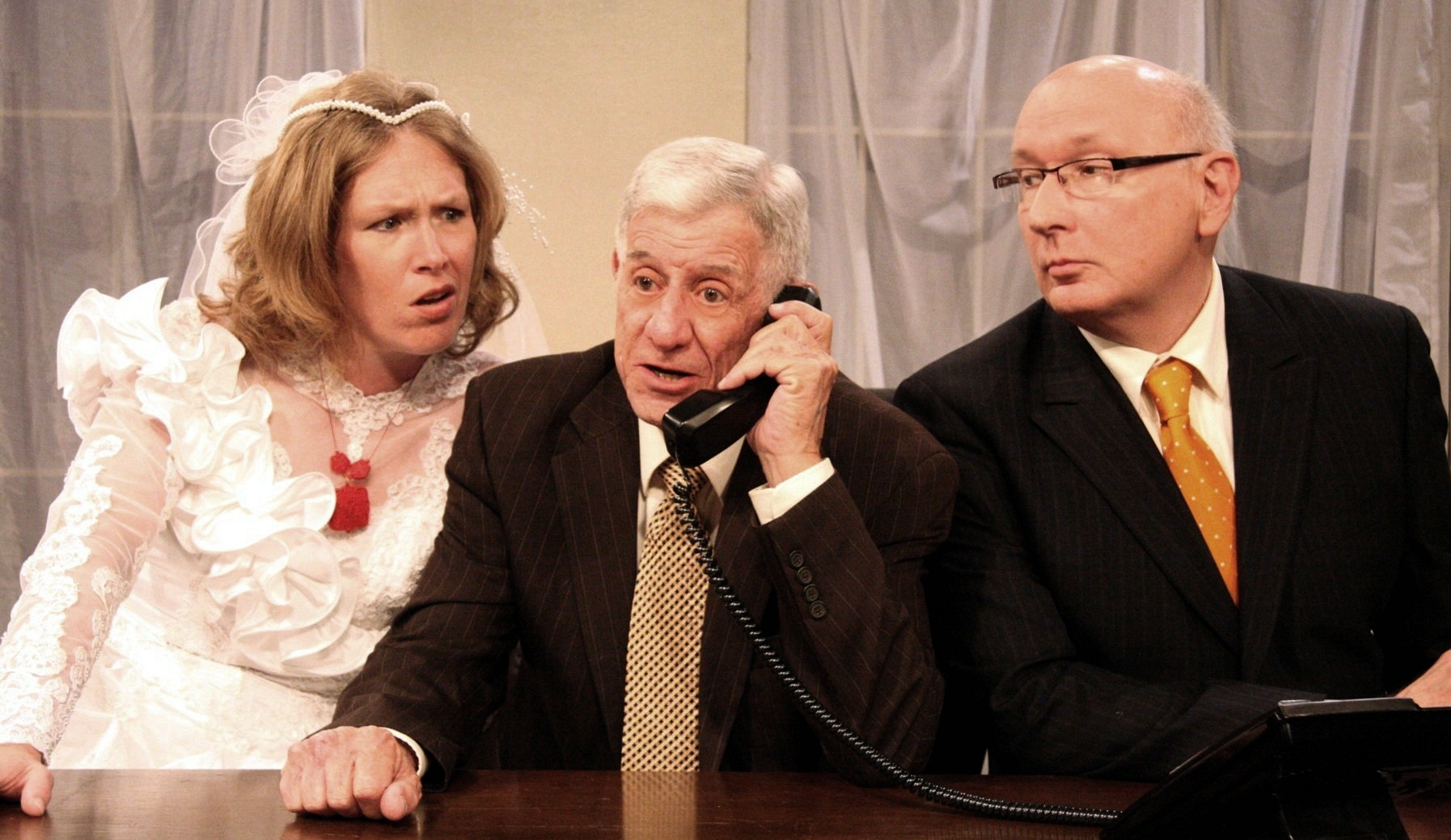 Sherry Jo Ward, Jerry Russell and Jim Covault in 'November.'
