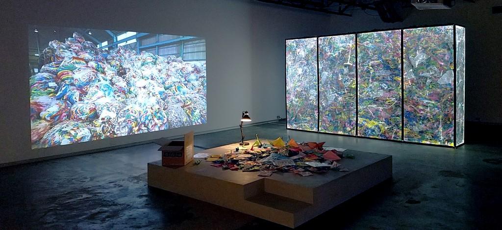Installation view of Non-Burnable at the Dallas Contemporary.