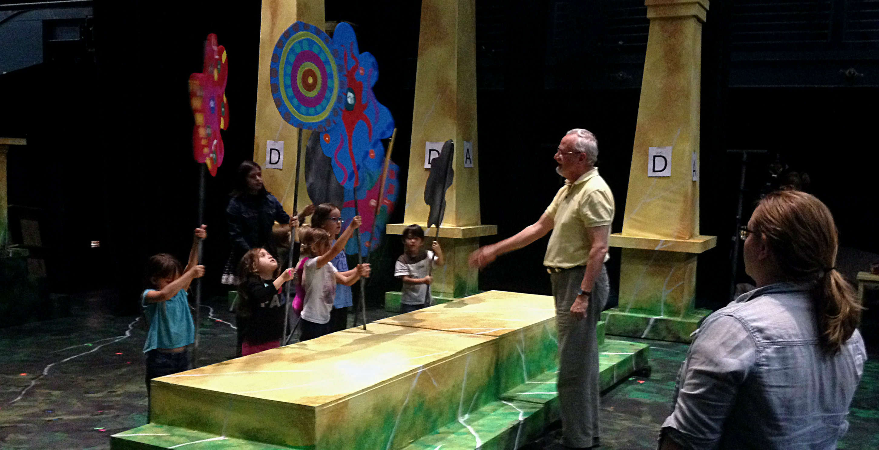 Jonathan Eaton directing 'The Magic Flute' at UNT