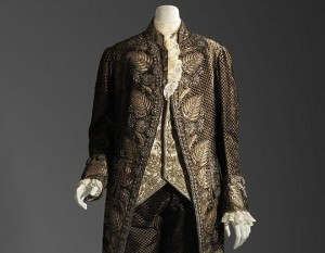 France Three Piece Suit 1770s, restyled in the late 18th century Silk cut and uncut voided velvet embroidered with silver metallic thread, paillettes, and glass Museum of Fine Arts, Boston The Elizabeth Day McCormick Collection