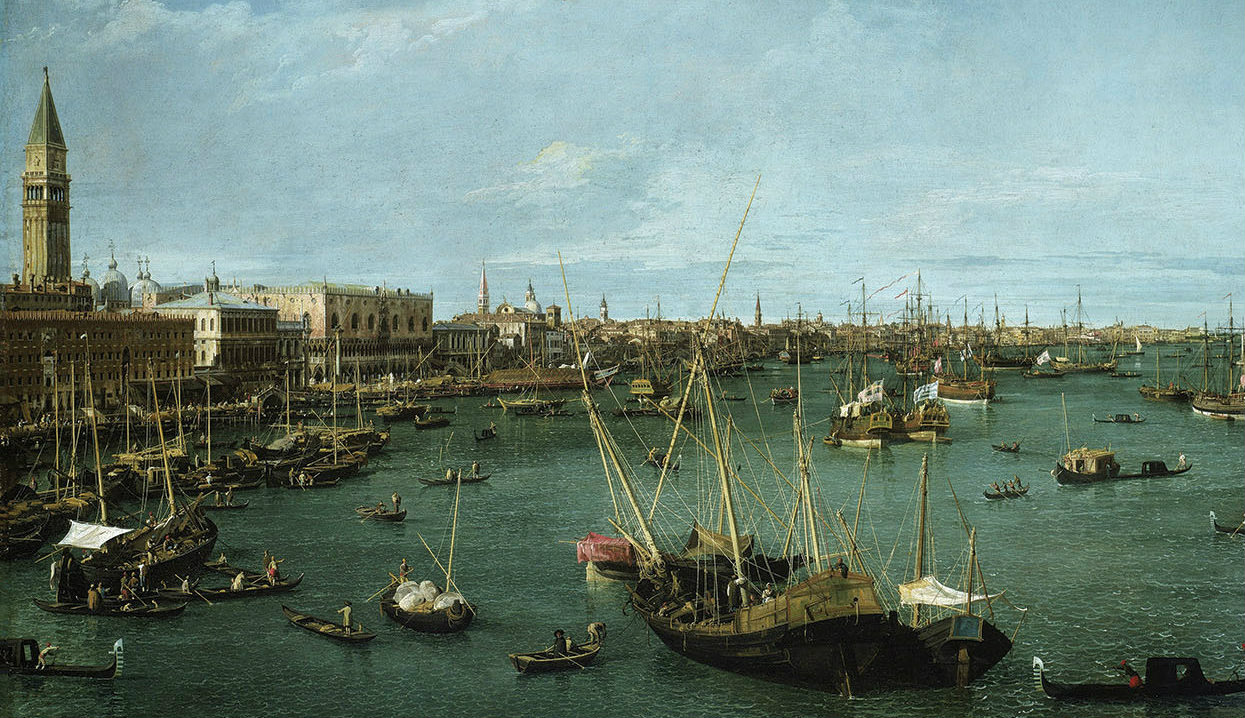 Canaletto, 'View of the San Marco Basin,' 1738