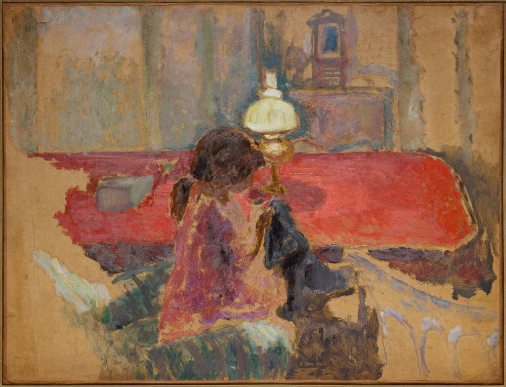 Pierre Bonnard, SMALLER Woman with a Lamp, 1909, Dallas Museum of Art, gift of Ann Jacobus Folz, 2017